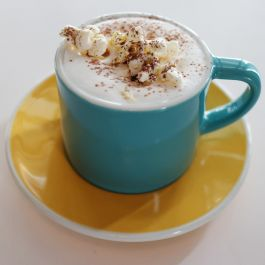 Hazelnut And Popcorn Latte